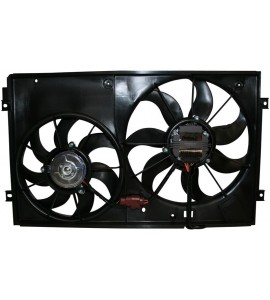 Ventilator motor, double, including fan shroud, links/rechts, 300/200 W, 360/290 mm 1K0959455CT
