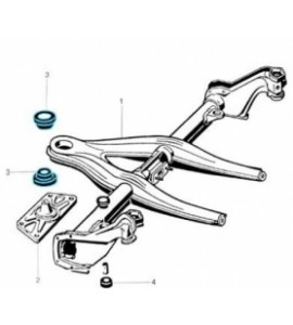 Rubber lager voor ophanging achteras (subframe) Type 3 311705683