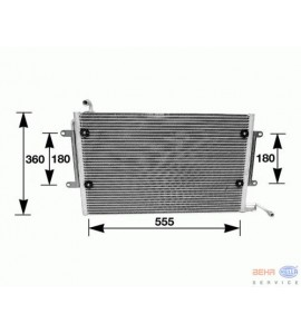 Condenser  air condition, 560x334 mm 1H1820413 Hella