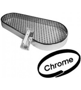 Chrome pulley guard, clover leaf design, met mounting hardware. Protects and looks great on Bugs, Bajas and Buggies