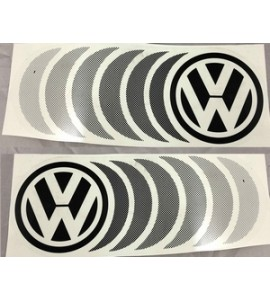 Sticker Set - Fading VW  in zwart (2 stuks)