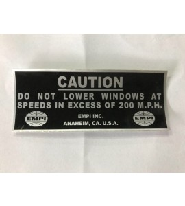 Sticker caution windows